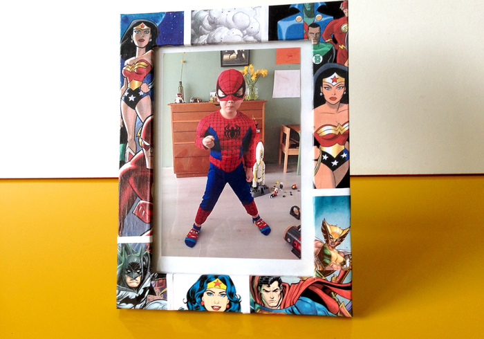 Super woman picture frame home