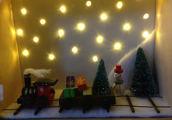 Kerst diorama sidepicll