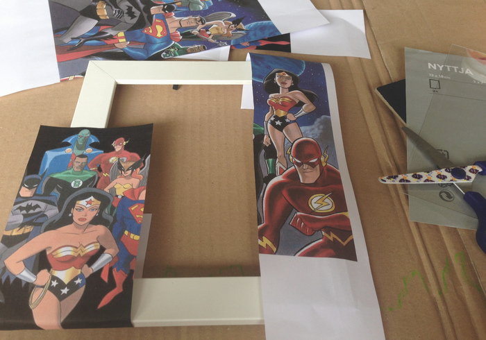 Super woman picture frame 01