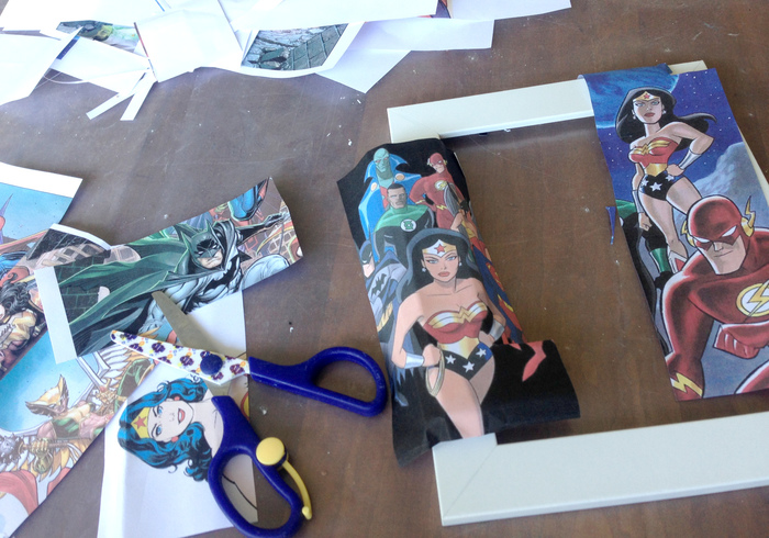Super woman picture frame 03