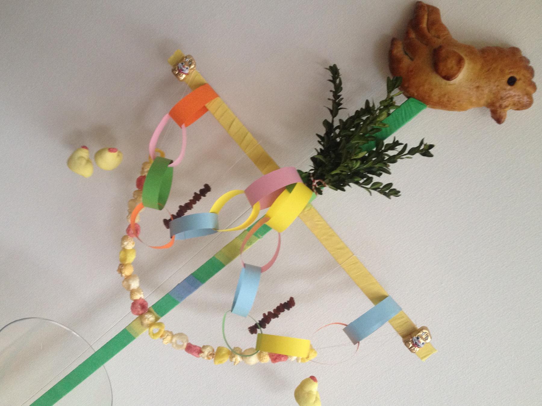 snazzie.nl - knutselen, lezen, koken en bakken voor groot en klein! -  Knutselen: Maak een palmpasen stok