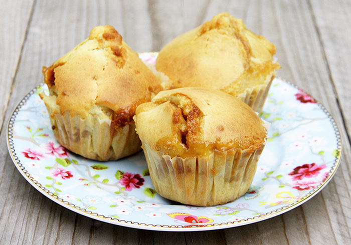 Appel/toffee muffins