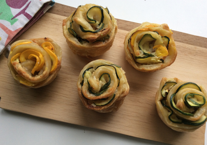 Courgette roses